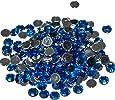 Pack of 1000 x Sapphire Crystal Flat Back Rhinestone Diamante Gems 4mm