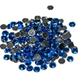 Pack of 1000 x Sapphire Crystal Flat Back Rhinestone Diamante Gems 3mm