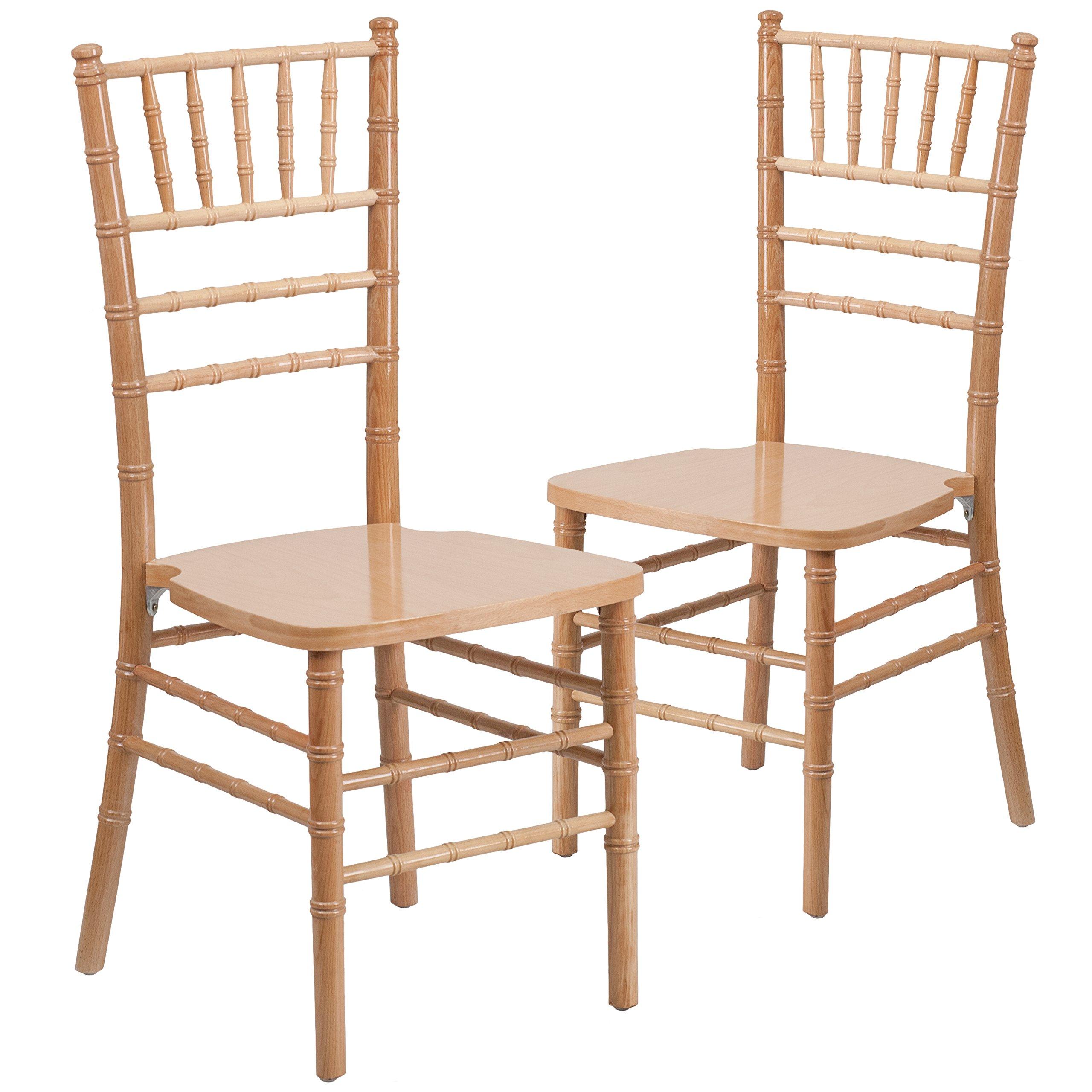 Flash Furniture 2 Pk. HERCULES Series Natural Wood Chiavari Chair by Flash Furniture