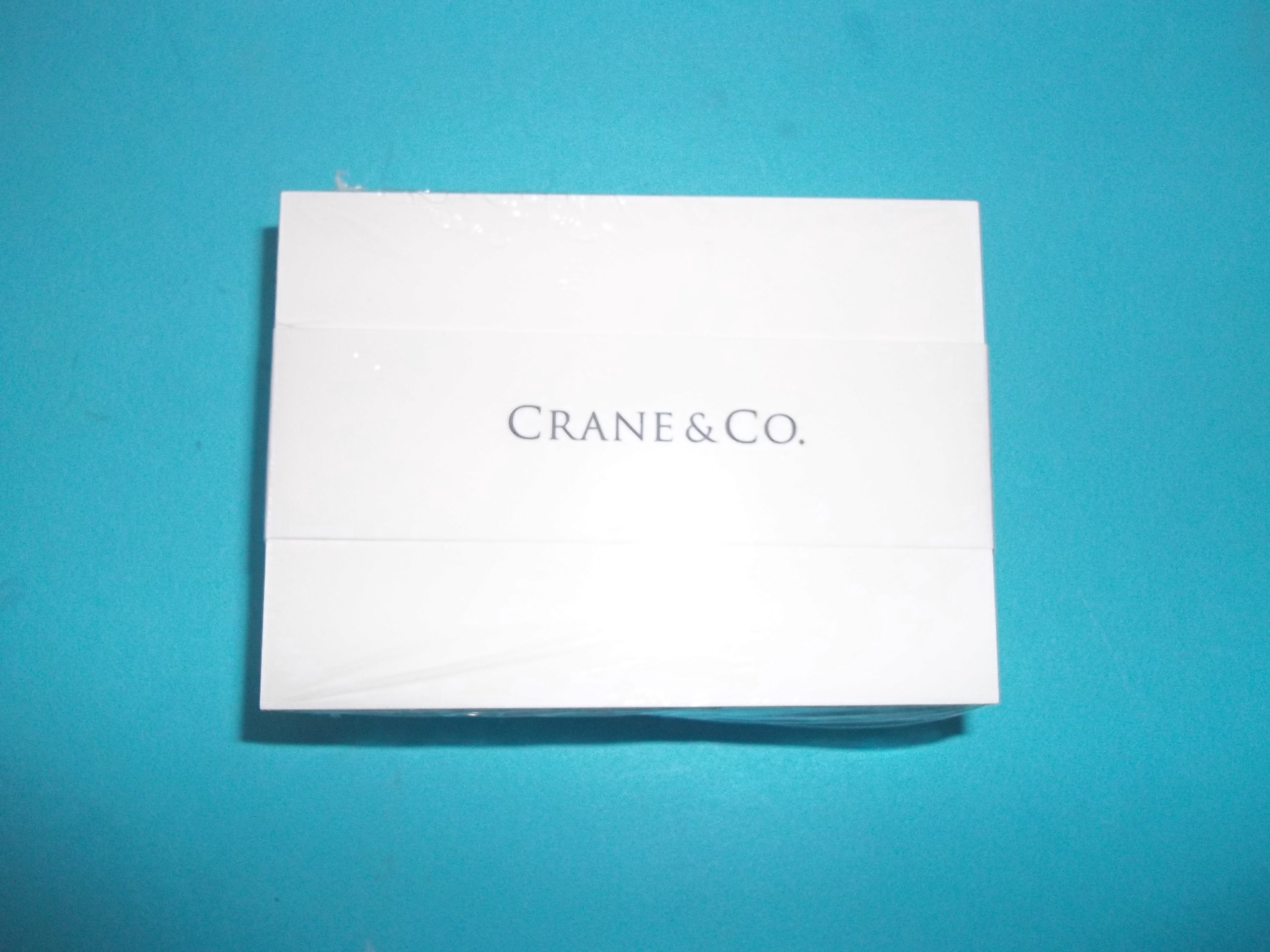 Crane CN941301A White Blank Note Cards 2 1/2'' x 3 1/2'' 100 Per Package Made in USA Limit 1 Per Customer