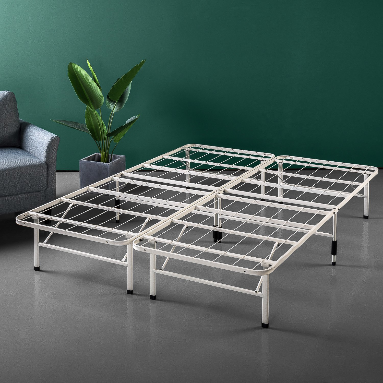 Zinus 14 Inch SmartBase Mattress Foundation/Platform Bed Frame/Box Spring Replacement/Quiet Noise-Free/Maximum Under-bed Storage in Beige, Full by Zinus
