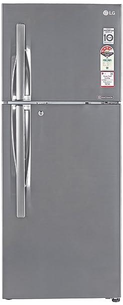 LG 260 L 4 Star Frost Free Double Door Refrigerator GL I292RPZL.APZZEBN, Shiny Steel, Inverter Compressor  Refrigerators