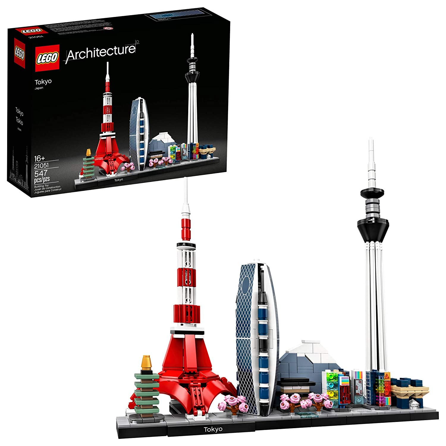 LEGO Architecture Skylines: Tokyo 21051 Building Kit, Collectible Architecture Building Set for Adults, New 2020 (547 Pieces)