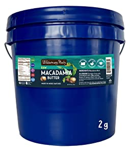 Wilderness Poets, Raw Macadamia Butter (272 ounce - 2 gallon - 17 pound)