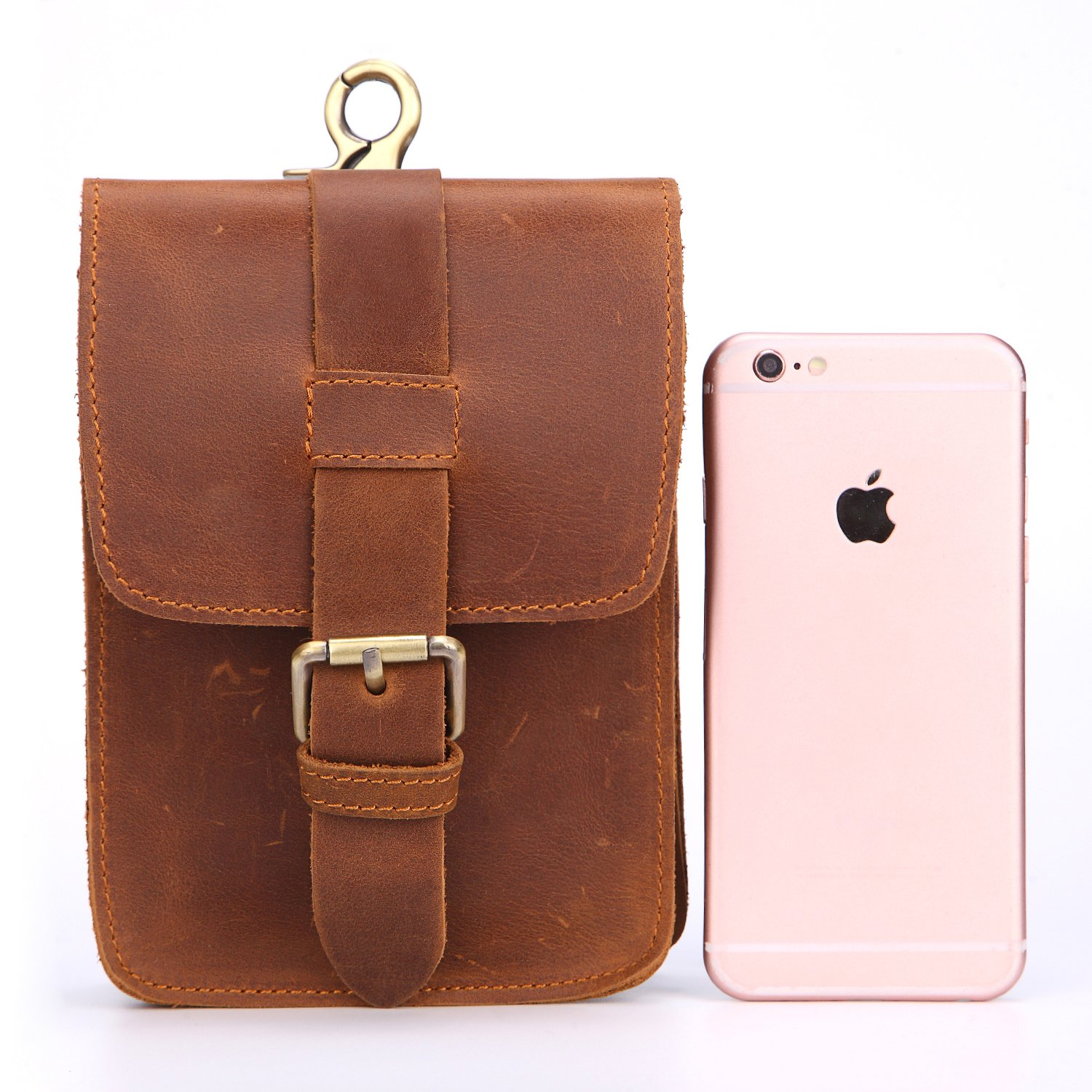 New Mens Pockets Leather Phone Belt Bags Mountaineering Bags
