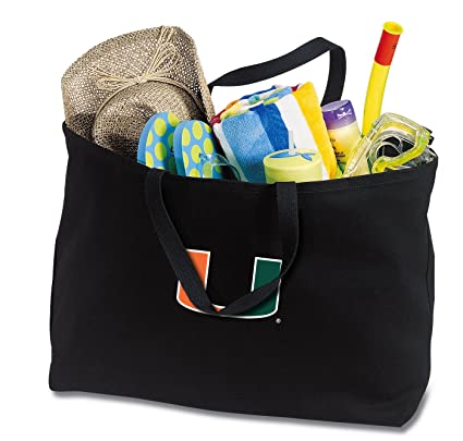 Amazon.com: Jumbo Miami Canes bolsa Bolso o lona Grande ...