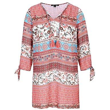 neuer Stil von 2019 große Vielfalt Stile ziemlich billig Comma Tunika Bluse mit 3/4 Arm Damen - 46: Amazon.de: Bekleidung