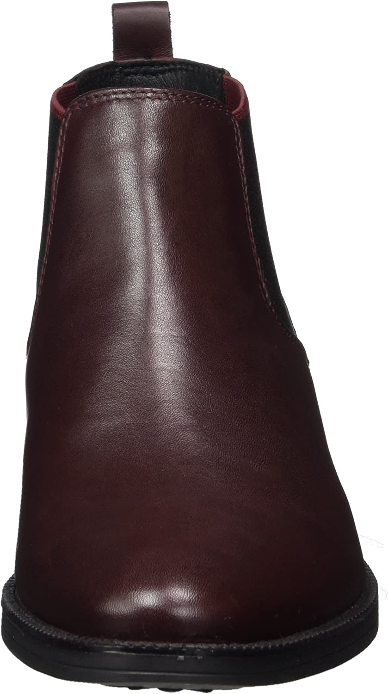 Geox Damen D MELDI NP ABX Chelsea Boots, Rot (Dk Burgundy