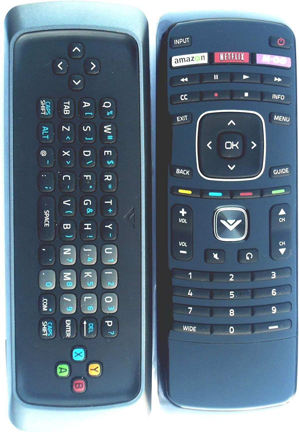 New Dual Side Keyboard Internet Remote-for Vizio M420sl M470sl M550sl E701i-a3 601i-a3