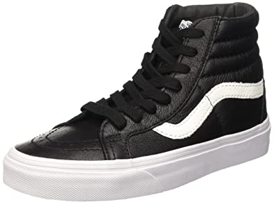 cb94690ac7 Vans Mens Sk8-Hi Reissue Black Leather Sneaker - 5