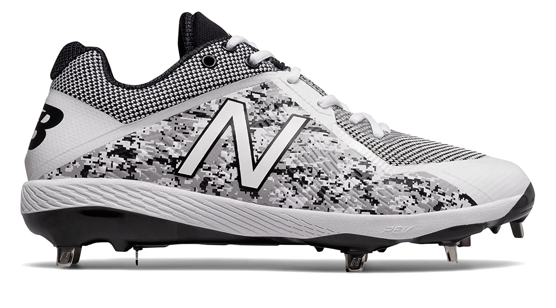 (ニューバランス) New Balance 靴シューズ メンズ野球 Pedroia 4040v4 White with Black ホワイト ブラック US 5.5 (23.5cm) B075P25RFV