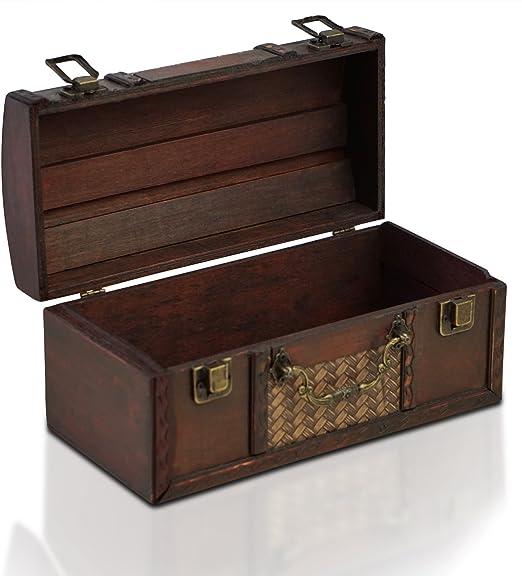 Brynnberg Modello Dublin Cofanetto in Legno con Manici 25 x 12 x 12 cm Misura Piccola