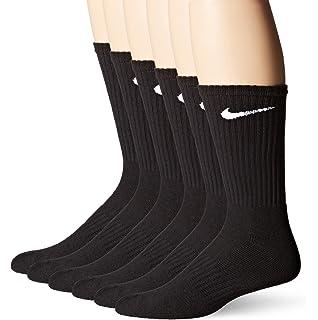 ba9b21590 Nike Mens Performance Moisture Wicking Crew Socks - 6 Pair (Black ...