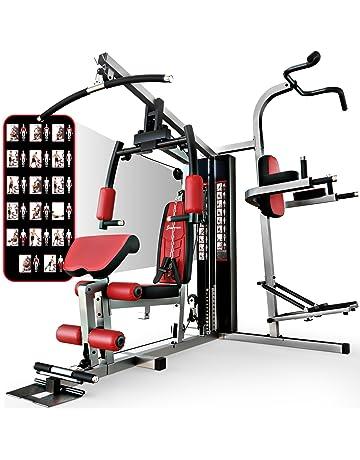 Sportstech HGX200 Multiestación musculación Premium 45en1 Sirve para innumerables Posibilidades de Entrenamiento. Máquina de Pesas