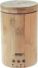 Now Foods Difusor Ultrasónico para Aceites Esenciales con Apariencia de Bambú