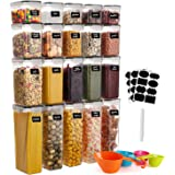 GoMaihe Food Storage Containers 20-Piece, Plastic Food Storage Containers with lids Airtight, Cereal Containers Storage set S