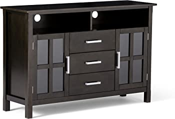 Simpli Home Kitchener Solid Wood Wide Contemporary TV Media Stand