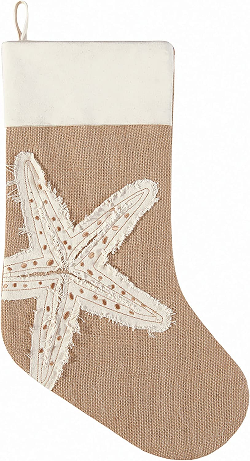 C&F Home Merry Coastmas Starfish Stocking Stocking Brown