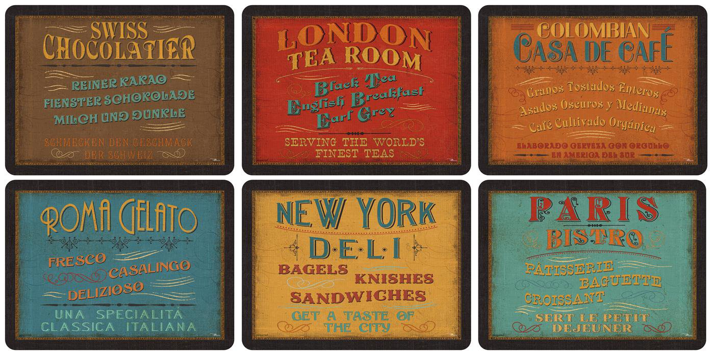 Pimpernel Lunchtime Placemats - Set of 6 by Pimpernel-Portmeirion ...