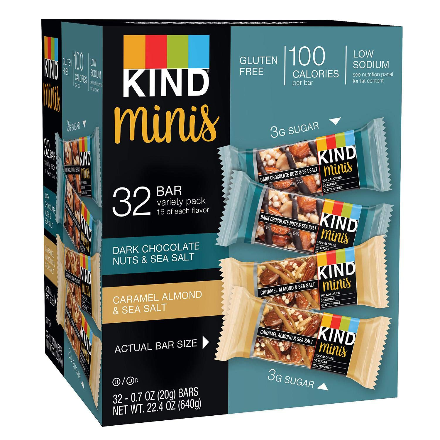 Minis Variety Pack (32 Count - 2 Pack) by KIND (Image #1)