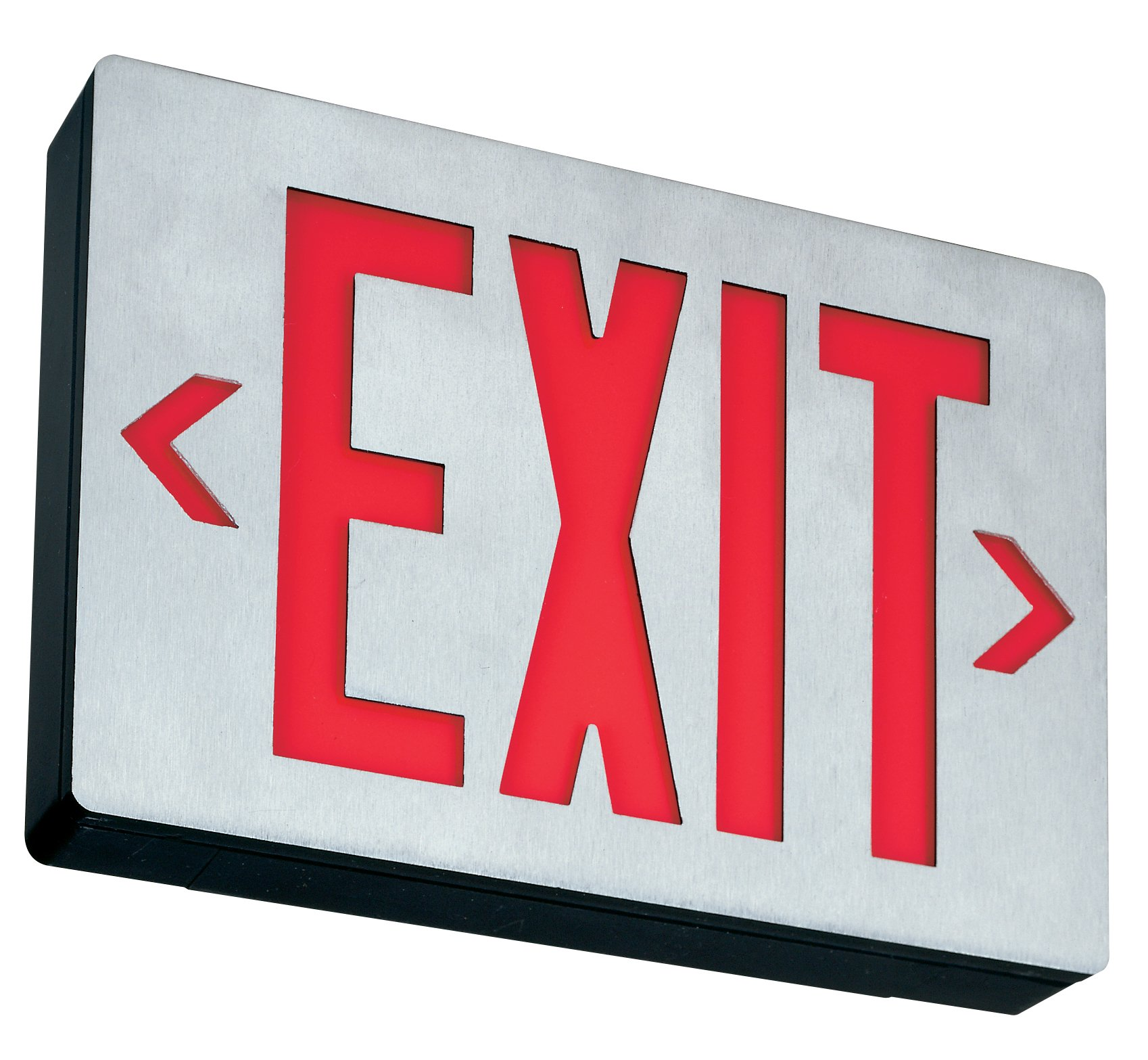 Lithonia Lighting LE S 1 R EL N SD Aluminum LED Emergency Exit Sign