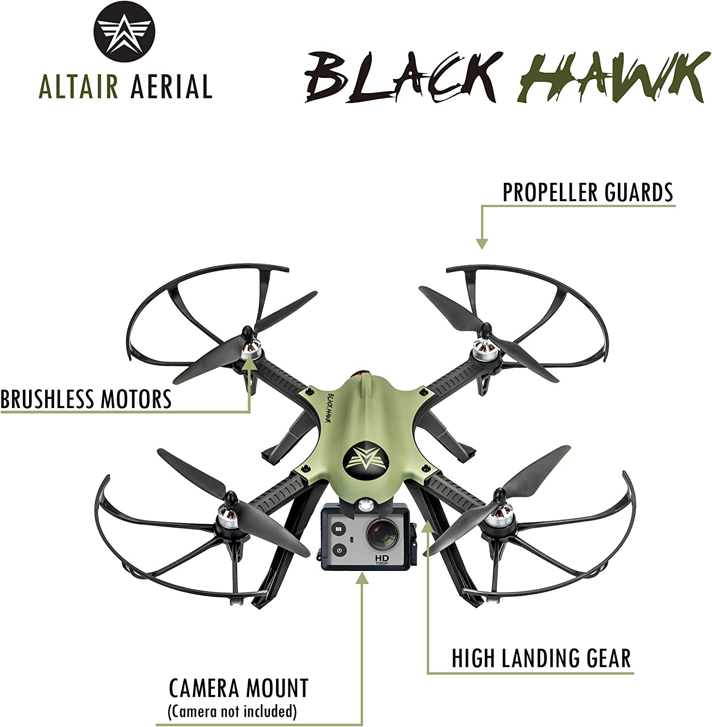 Altair Aerial Blackhawk Review GoPro compatible drone instructions