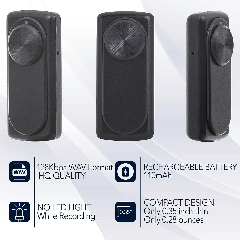 Mini grabadora de voz portátil para clases, reuniones; Compatible con USB PC y Mac; Memoria interna: 8GB /141 horas de grabación; Batería recargable: 20 ...
