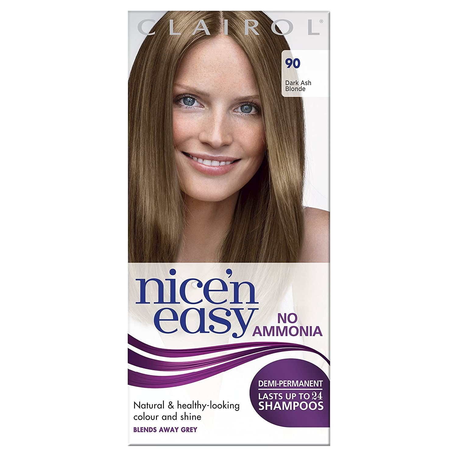 Clairol Nicen Easy Semi Permanent Hair Dye No Ammonia 90 Dark Ash