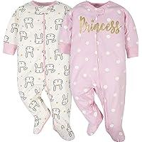 Gerber Baby Girls' 2-Pack Sleep N' Play