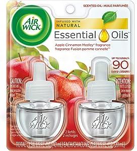 Air Wick Scented Oil Twin Refill Apple Cinnamon Medley (2X.67) oz
