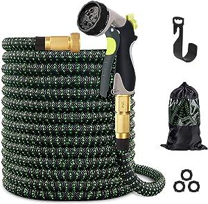 vantiorango Upgraded 50ft Expandable Garden Hose, 10 Function Nozzle, Lightweight Flexible Garden Sprayer Hoses