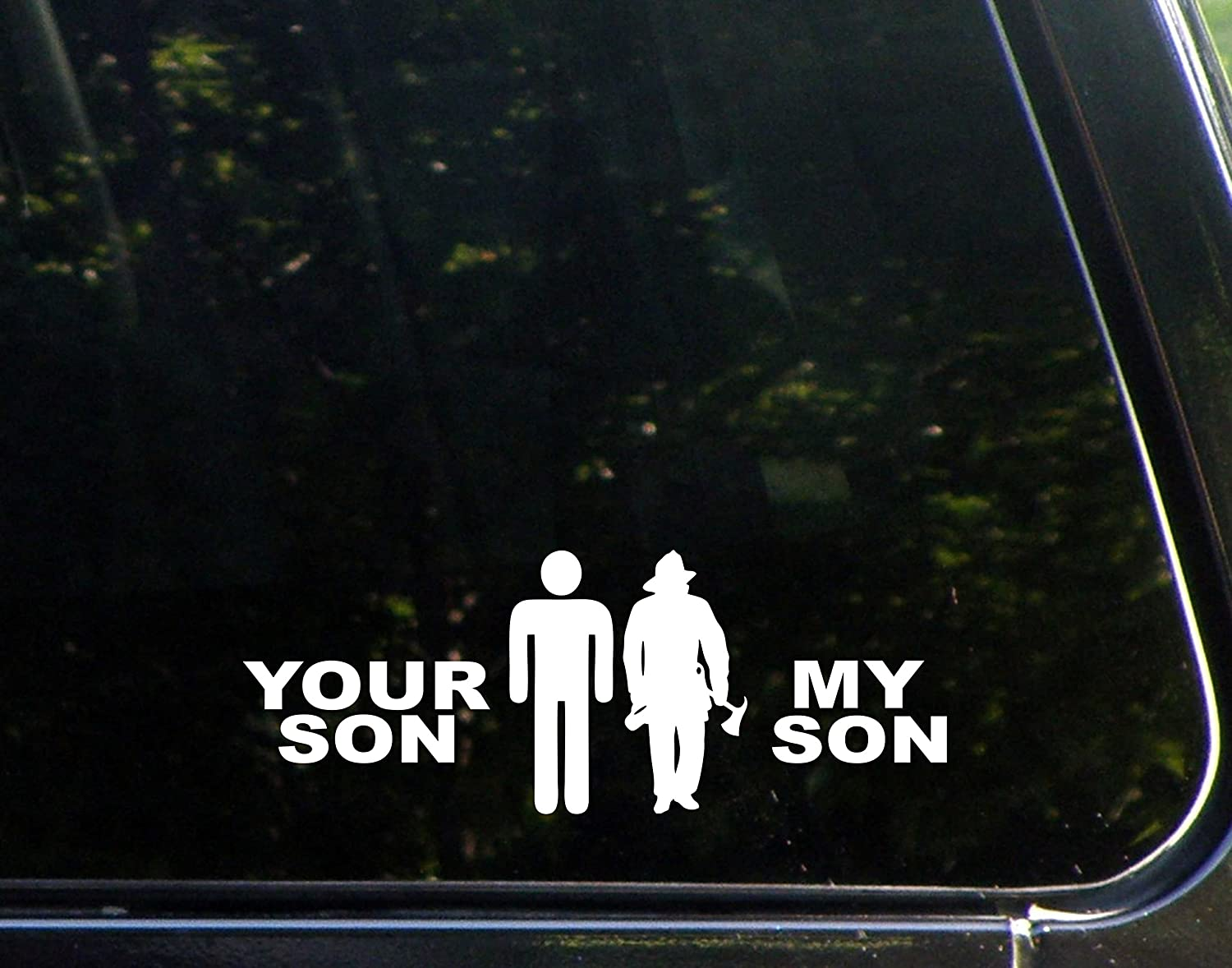 Amazoncom Your Son My Son FIREFIGHTER X Die Cut Decal - Office depot window decals instructions