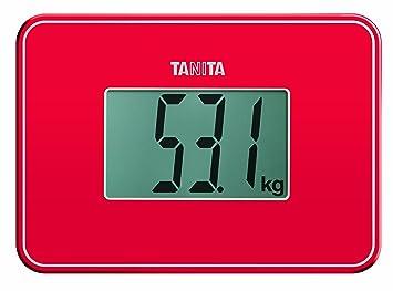Tanita HD-386 - Báscula de viaje, color rojo: Amazon.es: Salud y cuidado personal