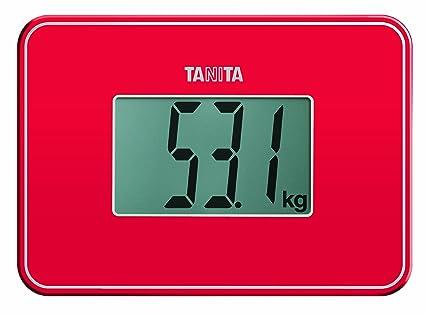 Tanita HD-386 - Báscula de viaje, color rojo
