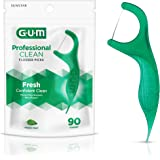 GUM Professional Clean Flossers, Fresh Mint, On-the-Go Dental String Floss Picks, 90 Count