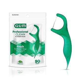 Amazon.com: Sunstar 893 F Gum Hilo dental profesional con sabor a menta (pack de 90 unidades): Industrial & Scientific