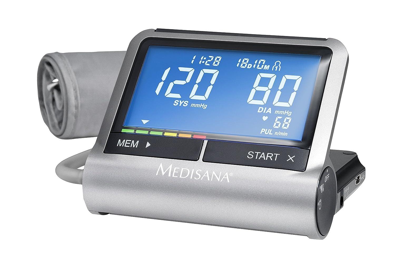 Medisana CardioCompact - Tensiómetro de brazo con despertador y conexión a VitaDock App