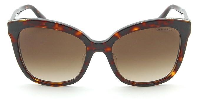 17fd259b44b Tiffany   Co. TF 4150-F Women Square Brown Gradient Sunglasses Asian ...
