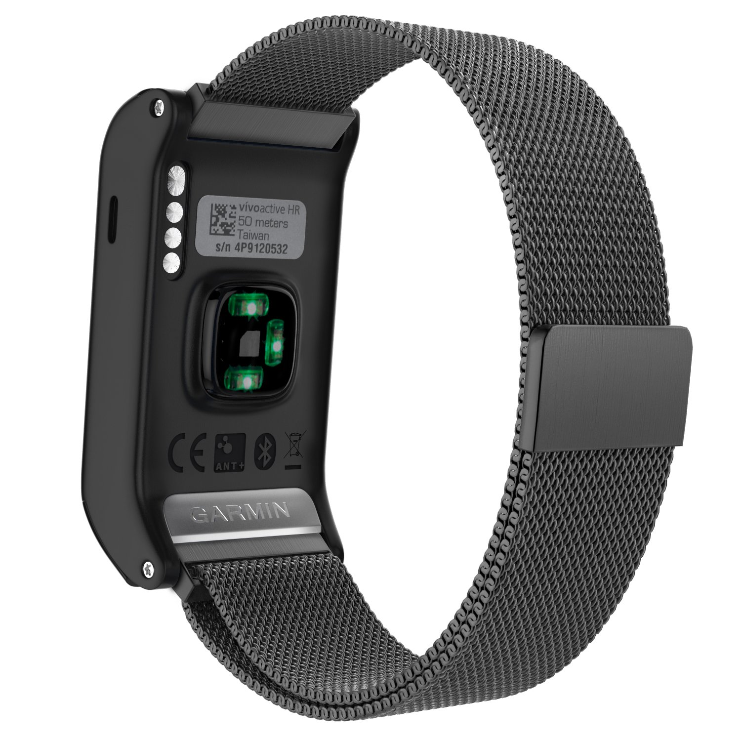 Garmin Vivoactive HR Watch Band, MoKo Milanese Loop Stainless Steel Mesh Replacement Bracelet Strap for Vivoactive HR Sports GPS Smart Watch with Unique Magnet Lock, No Buckle Needed, Black