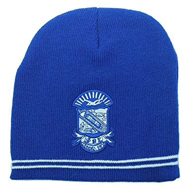 2f2bc6bee Amazon.com: Greekear Phi Beta Sigma Crest Knit Beanie Royal Blue ...