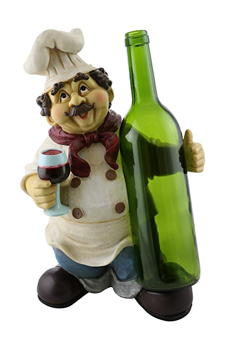 Amazon Kitchen Decorative 40 Inch Chef Polyresin Wine Bottle Fascinating Decorative Wine Bottle Holders