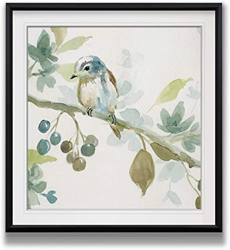 Renditions Gallery Spring Melody II Contemporary Artwork Bird Art Framed Scenic Giclee Canvas Prints Animals Wall Decor Painting