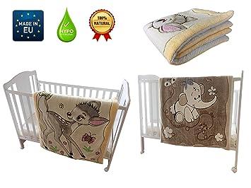 0ed182efeebe Couverture Bébé Fille Coton et Polaire  Hiver, Enfant, Enveloppante, Cosy,  Pour