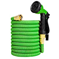 Deals on Ordekcity 50ft Expandable Water Hose Double Latex Core