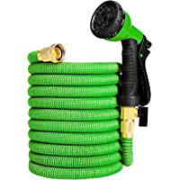 Ordekcity 50ft Expandable Water Hose Double Latex Core (Green)