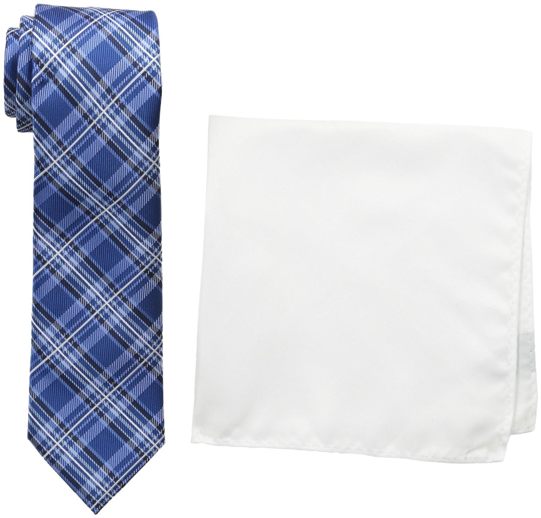 Nick Graham Everywhere Men's Plaid Neck Tie Blue One Size Nick Graham Mens Accessories GGSNP482