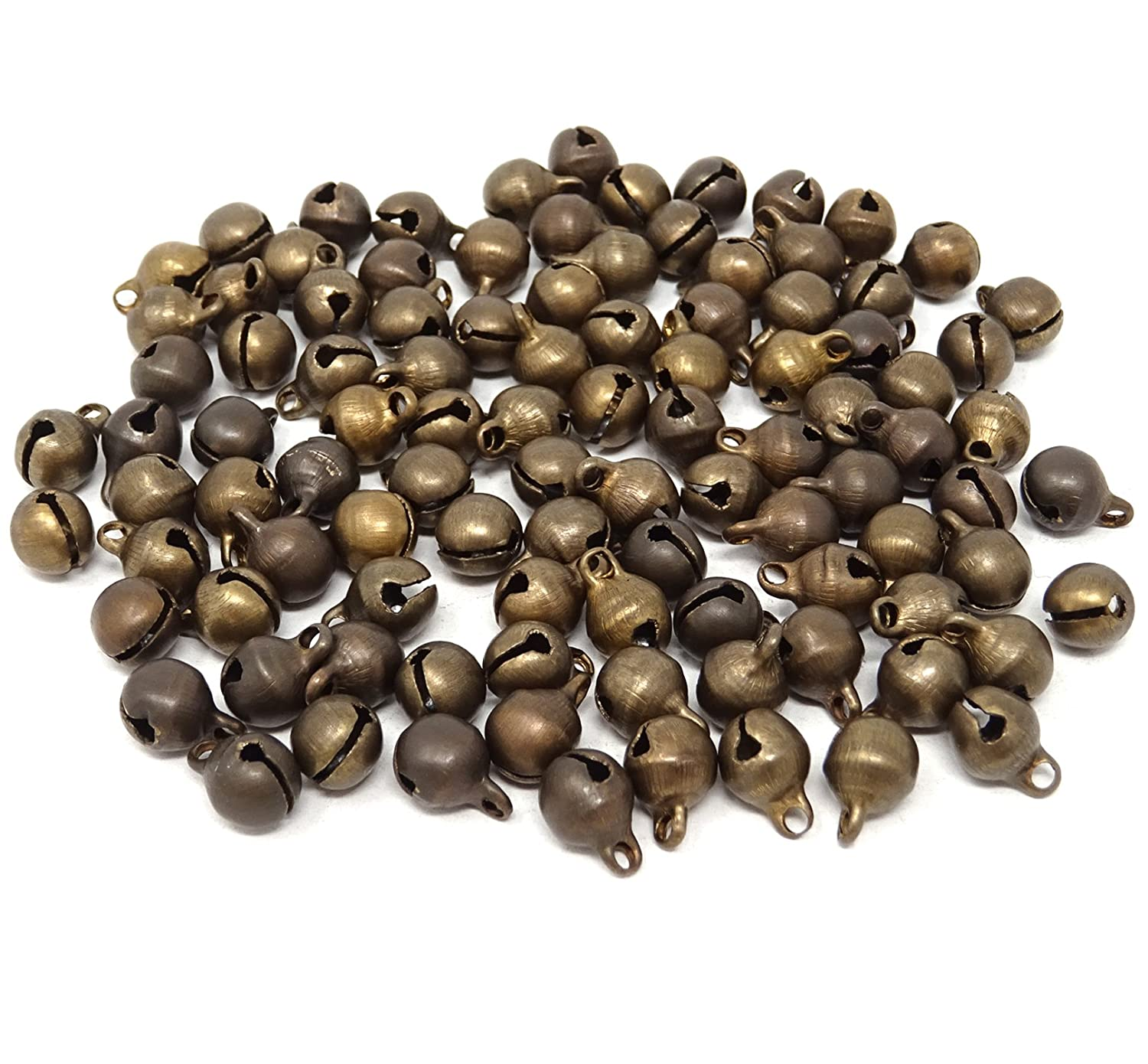 Honbay 100pcs Fashion Bronze Jingle Bell/ Small Bell/ Mini Bell for DIY Bracelet Anklets Necklace Knitting/Jewelry Making 4336848471