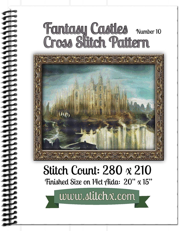 Fantasy Castle #7 Cross Stitch Pattern Spiral Bound Book
