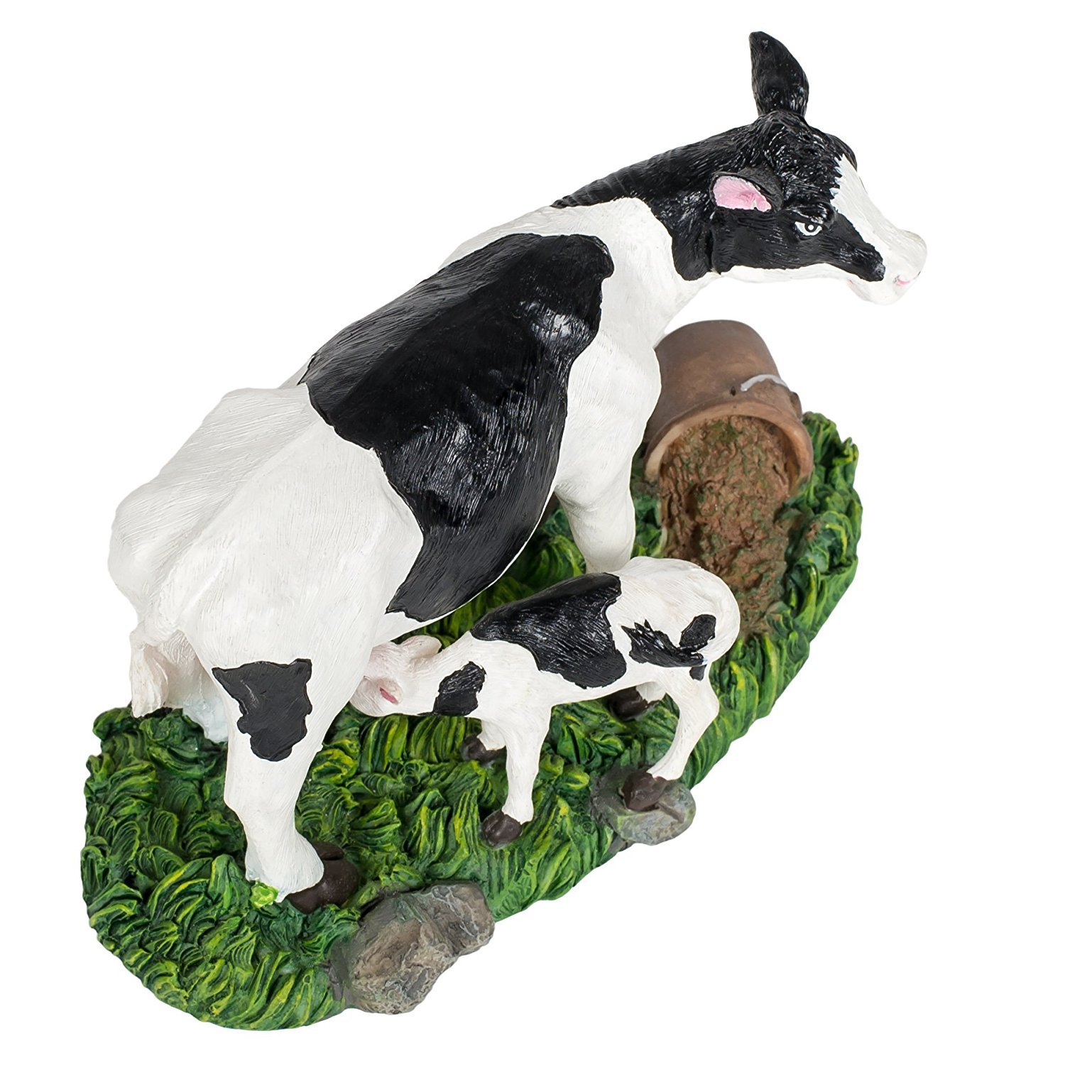 Dairy Cow and Calf 4 x 6 inch Resin Stone Decorative Table Top Figurine