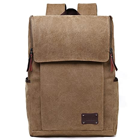 aec29825b637 Image Unavailable. Image not available for. Color  Zebella Casual Canvas  Laptop Backpack School College Travel Daypack Handbag